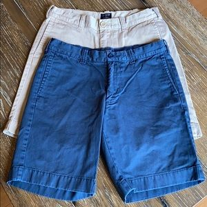 2 pair of J Crew Gramercy Shorts Khaki & Navy - 29